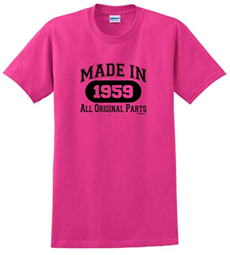 60th Birthday Party Supplies 60th Birthday Gift Made 1959 All Original Parts T-Shirt XL Heliconia Birthday Party Favor T-shirt