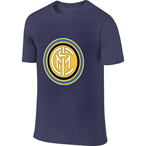 Logo of FC Inter Milan 1963-1979 T-Shirt with Round Collar and Short Sleeves Double Sided Print T-Shirt for Men's
