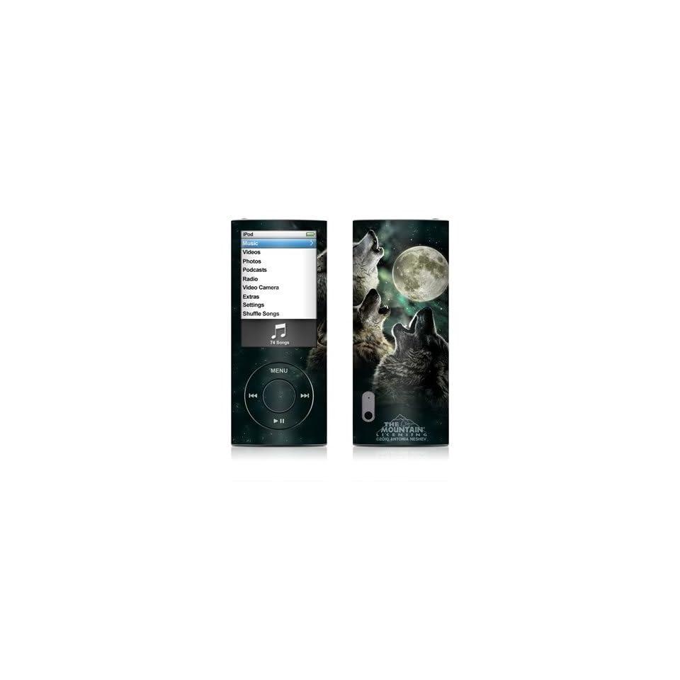 Three Wolf Moon Design Decal Sticker for Apple iPod Nano 5G (5th Generation)