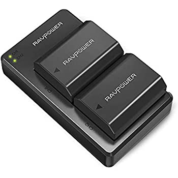 NP-FZ100 RAVPower [Upgraded] Camera Batteries Charger Set for Firmware 2.0 Sony Alpha A7 III Battery, A7R III, A9, Alpha 9, A7R3 a6600, a7R IV, Alpha ...