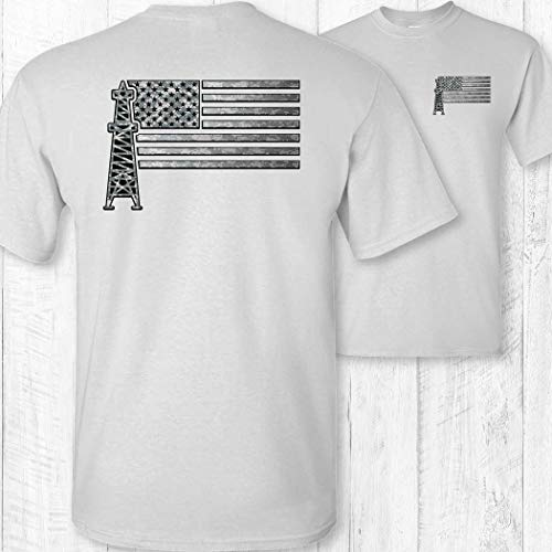 369b458f Men's American Flag Oil Field Worker Shirt available in Qatar | T ...