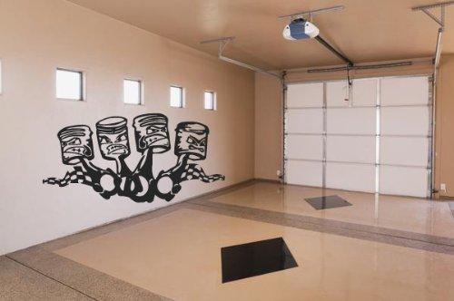 Wall Vinyl Sticker Decals Mural Kids Funy Pistons Garage (Z010)
