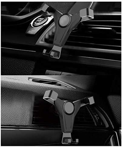車の電話ホルダー、カーナビゲーションユニバーサルコンセントブラケット (色 : ゴールド)
