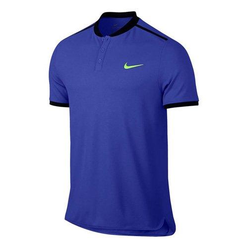 Nike M Nkct Adv Polo Solid Pq Camiseta de Manga Corta de Tenis, Hombre azul (paramount blue/black/ghost green)