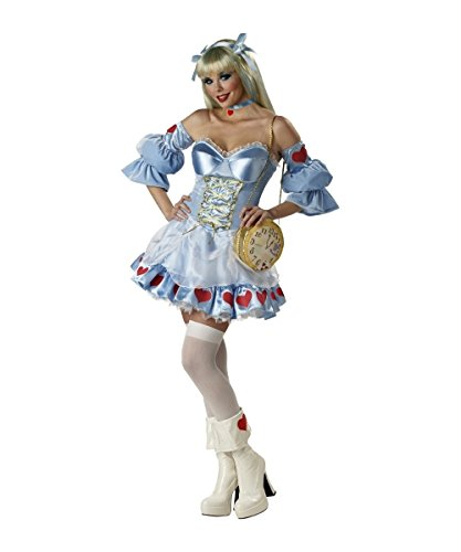 In Character Halloween Costumes (Alice in Wonderland Adult Halloween Costume Size 6-8 Small)