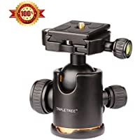 Triple Tree Camera Tripod Ball Head 360 Degree Fluid Rotation Quick Release Ballhead
