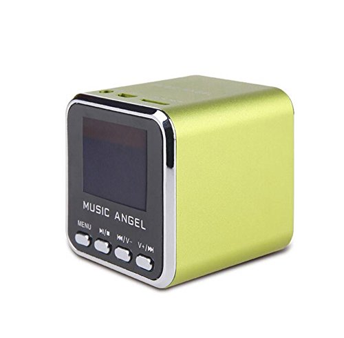 Music Angel JH-MD08D LCD Screen Mini Digital Speaker Clock Alarm TF MP3 Player FM ()
