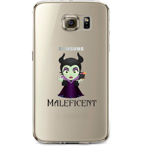 Disney Villains Evil Witch, Ursula, Maleficent Jelly Clear Case for Samsung Galaxy S7 EDGE (Maleficent) ()