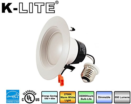 "K-LITE 4""-Inch LED Retro Fit Recessed Downlight Fixture Dimm"