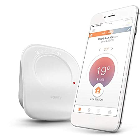 Somfy 2401498 Thermostat connect/é filaire Blanc