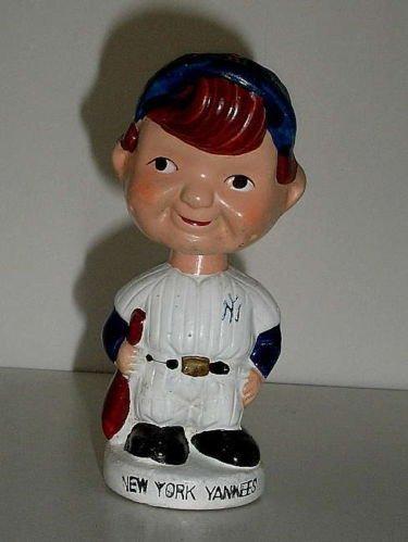 1960s Bobble Head Nodder New York Yankees Mini Minature S...