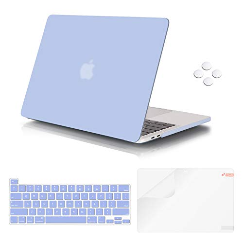 MacBook Pro 16 Inch Case 2019 Release A2141, iCasso Ultra Slim Protective Plastic Hard Shell Case with Keyboard Cover Skin & Screen Protector for Newest Mac Pro 16'' with Touch Bar & Touch ID (Blue)