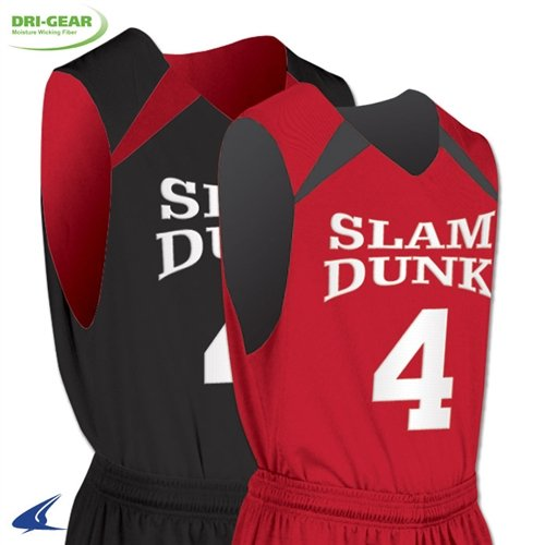 Champro大人用Pro PlusリバーシブルBasketball Jersey – White / Maroon – 3 x -ラージ B076H74CWB