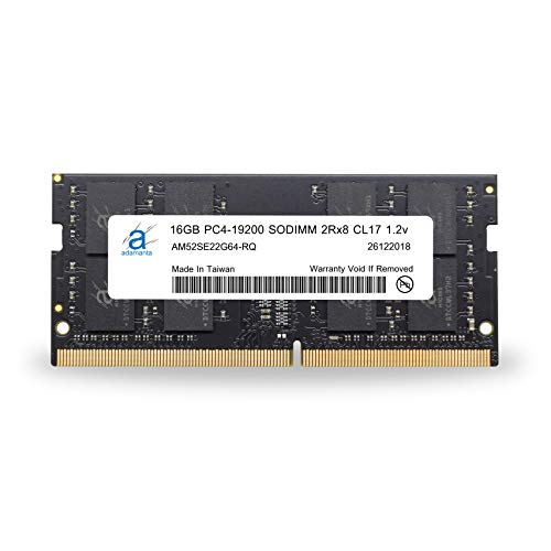 Adamanta 16GB (1x16GB) Laptop Memory Upgrade DDR4 2400Mhz PC4-19200 SODIMM 2Rx8 CL17 1.2v Notebook RAM DRAM