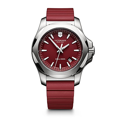 Victorinox Swiss Army I.N.O.X. Rubber Watch, 43mm, Red ()