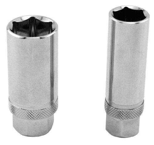 GreatNeck 28020 Magnetic Spark Plug Socket Set, 2-Piece