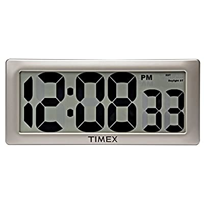 """Timex 75071TA2 13.5"""" Large Digital Clock with 4"""" Digits and Intelli-Time Technology"""