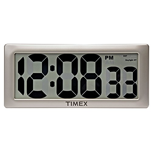 Timex 75071TA2 13.5 Large Digital Clock with 4 Digits and Intelli-Time Technology