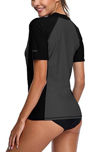 Nero donna lunghe Rashguard a maniche Bades UV Alove nbsp; 50 UV con da Grigio protezione maglietta p5wqU6