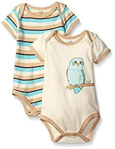 Touched by Nature Unisex Baby 2-Pack Organic Bodysuits