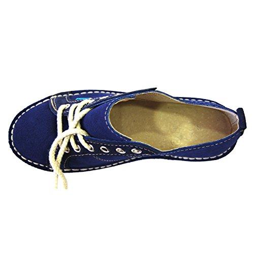 Zapatos con Cordones - Piel de Ante - Sneaker - Hombre - 44