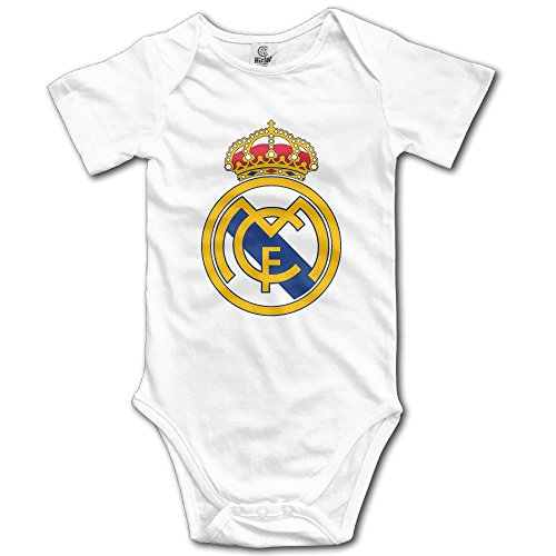 Real Madrid Logo Bodysuit Romper Jumpsuit Outfits White 12 Months