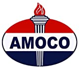 """Amoco Laser Cut Out Reproduction Motor Oil Metal Sign 18""""x23.5"""""""