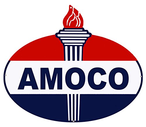 "Amoco Laser Cut Out Reproduction Motor Oil Metal Sign 18""x23.5"""