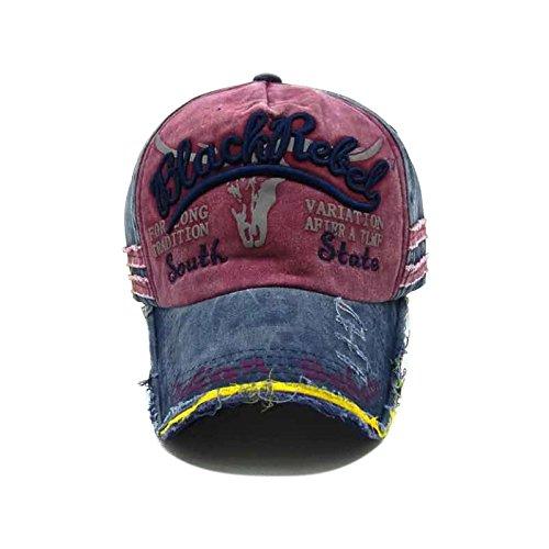 Ribete Gorra Viejo de Skyeye Roto Caqui de Hombres Béisbol Vaquero la Mujeres Gorra Nueva de de 9 Sombrero Béisbol y de Salvaje Retro Visera w6qwz