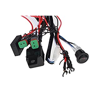 wiring harness for kc lights automotive parts online com top longer universal 180w led light bar wiring harness kits dt connector relay fuse