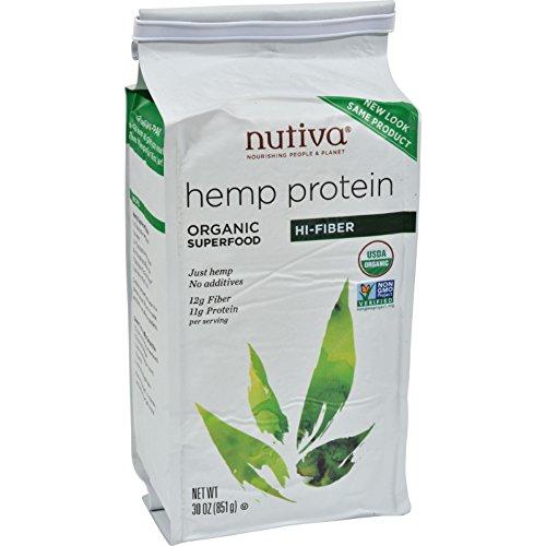 Nutiva Organic Hemp Protein Plus Fiber - 30 oz by Nutiva