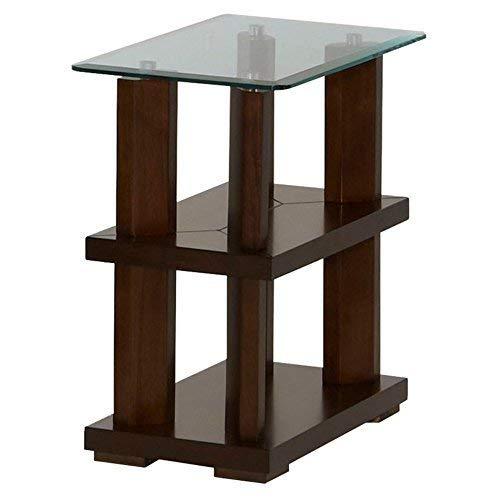 Progressive Furniture Delfino Chairside Table, Burnished Cherry -  P404-29
