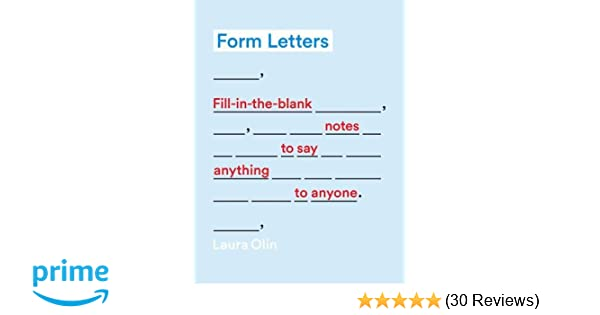 Form Letters Fill In The Blank Notes To Say Anything To Anyone