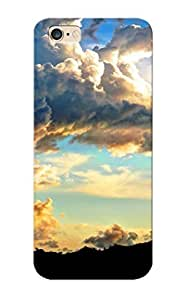 Design High Impact Dirt/shock Proof Case Cover For Iphone 6 Plus (fluffy Clouds)
