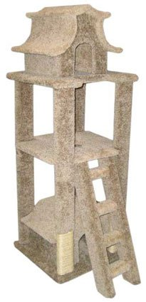Carpet Cat Tower Tree Cat House Sisal Post, Brown Carpet, My Pet Supplies