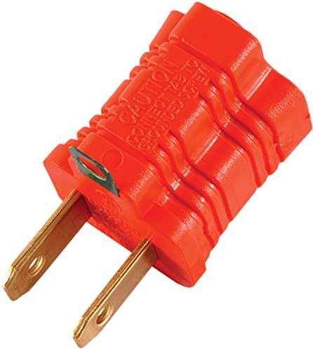 GE 14404 Polarized Grounding Adapter, Orange, 2-Pack (Prong Two)