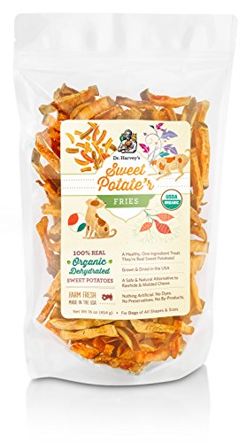 Dr. Harvey's Sweet Potate'r Fries Organic Sweet Potato Treat for Dogs, 16-Ounce
