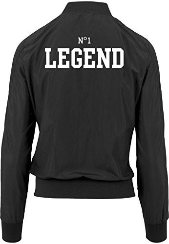 Chaqueta Freak Certified Negro 1 Girls N ° Bomber Legend If68xPn1