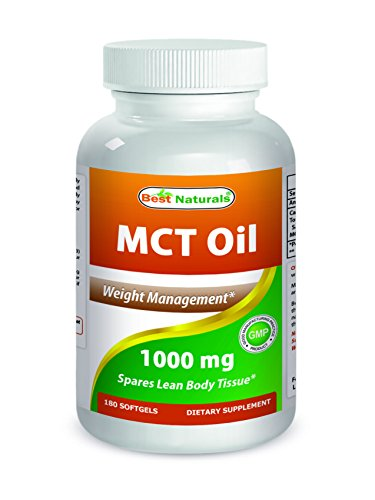 Best Naturals MCT Oil Capsules Weight Management 1000 mg 180 ct, Great MCT Oil Capsules for Energy & Weight Management
