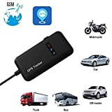 GPS Tracker for Vehicle, Mini Portable Real Time Personal Antitheft GPS Tracking Device Locator (Black)