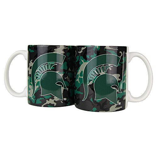NCAA Camouflage 11oz Coffee Mug (2 Pack) (Michigan State Spartans)