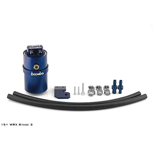 Boomba Racing Stage 2 Oil Catch Can Blue CCV for 2015+ Subaru WRX