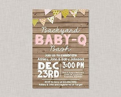 amazon com mildred rob bbq baby shower invitation baby q invitation