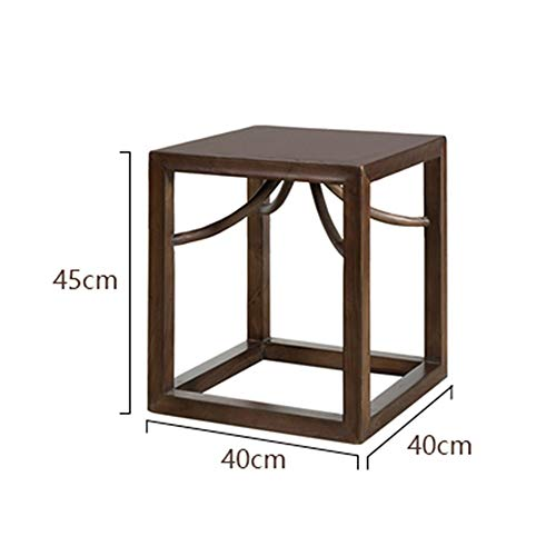 B.YDCM Wooden Bench- Square Stool Black Walnut Wooden Stool Side A Few Antique Tea Stool Old Elm Wood Stool - Wood Bench (Color : A)