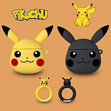 BlossomingLove Compatible with AirPods Case Keychain Full Protective Premium Silicone Cover Fashion Self-Design Charmander Style Pok/émon Skin for AirPods Charging Charmander
