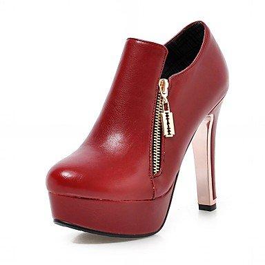 De donna-tacchi-matrimonio/Oficina y Trabajo/vestir/Casual/planeta y festa-tacchi/Plateau/botas Alla Cowboy/Botas de, rojo rojo
