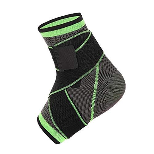 Talón 3D Tejido elástico de la Correa de Nylon Tobillo Apoyo de la Ayuda Badminton Baloncesto Taekwondo Aptitud…