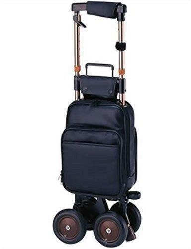 象印ベビー キャリーステッキライト168 (黒) 本体重量:2.1㎏ 袋容量:9L キャリーシリーズ ショッピングカー B0012CRDAA  黒