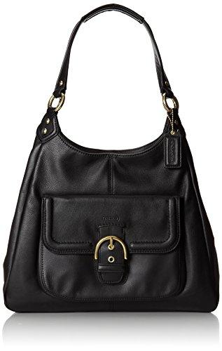 COACH Campbell Leather Handbag Black