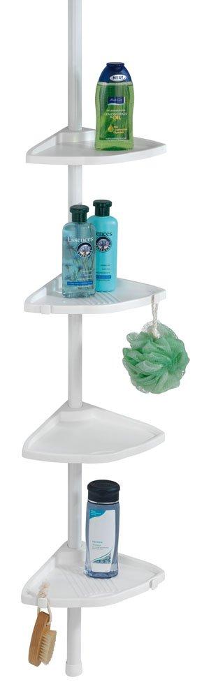 Wenko 21554100 - shelves (Acrylonitrile butadiene styrene (ABS), Aluminium, Red, White, Bathroom)